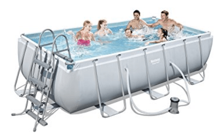 Bestway Power Steel Piscine tubulaire rectangulaire